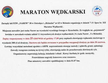 Maraton Wędkarski 07-08.07.2018r